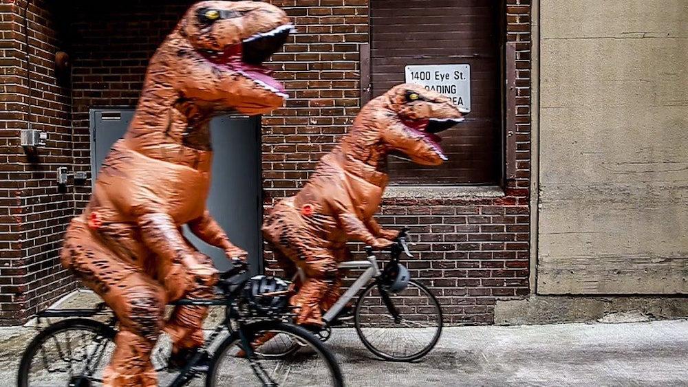 Dinosaur protest in DC