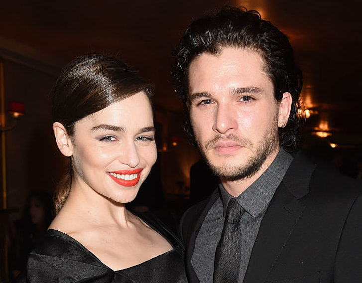 "Emilia Clarke and Kit Harington attend the after party for HBO's ""Game of Thrones"" Season 5 at San Francisco City Hall on March 23, 2015 in San Francisco, California."
