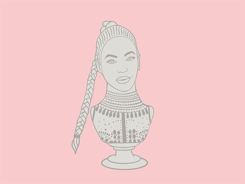 Bust of Beyoncé.