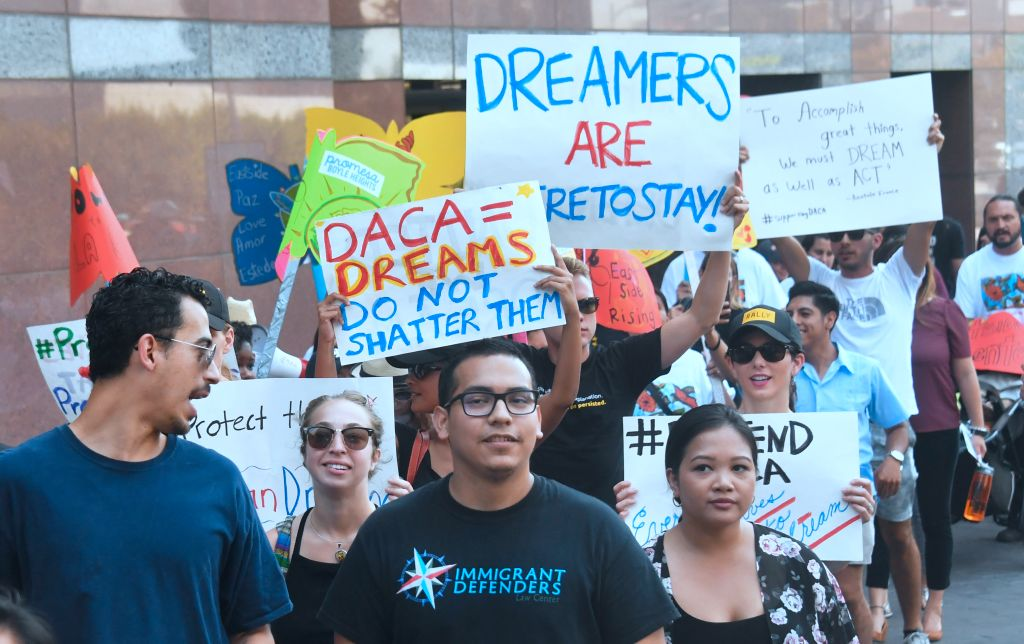 A decision is expected in coming days on whether US President Trump will end the program by his predecessor, former President Obama, on DACA which has protected some 800,000 undocumented immigrants, also known as Dreamers, since 2012. / AFP PHOTO / FREDERIC J. BROWN (Photo credit should read FREDERIC J. BROWN/AFP/Getty Images)