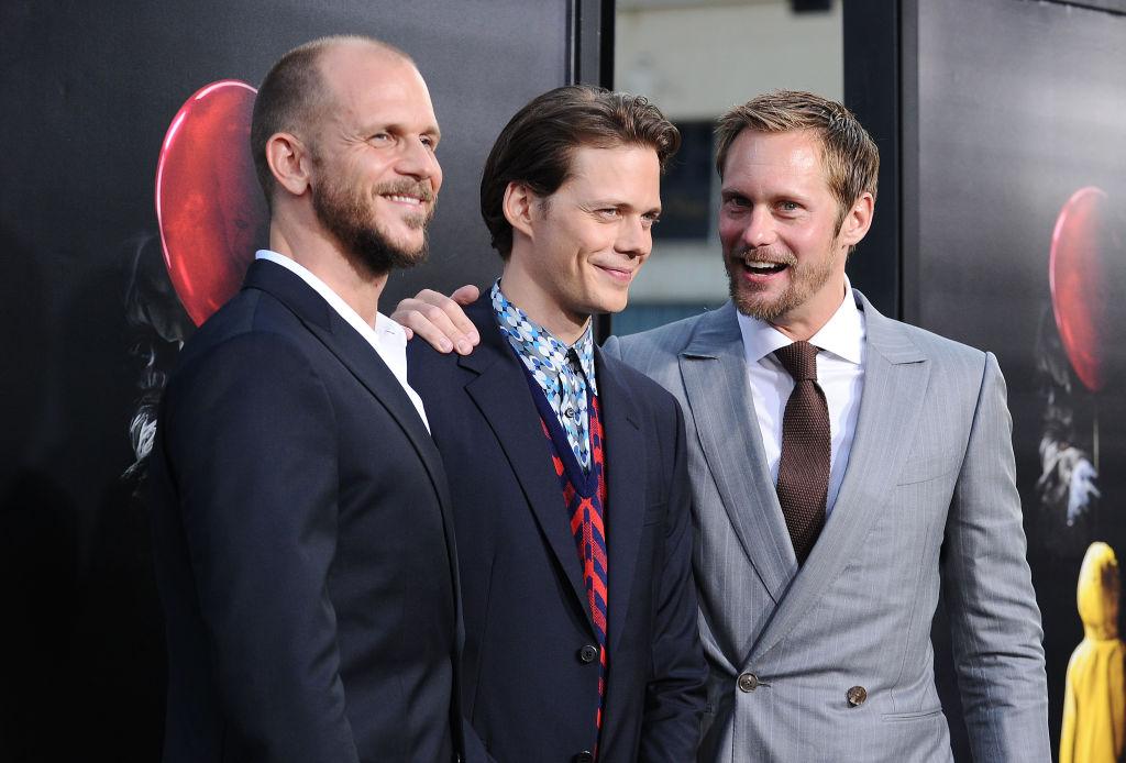 """Actors Gustaf Skarsgard, Bill Skarsgard and Alexander Skarsgard attend the premiere of """"It"""""""