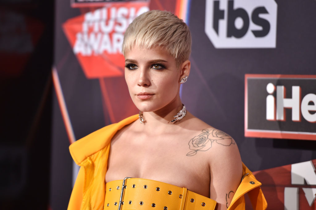 Halsey attends the 2017 iHeartRadio Music Awards which broadcast live on Turner's TBS, TNT, and truTV at The Forum on March 5, 2017 in Inglewood, California.