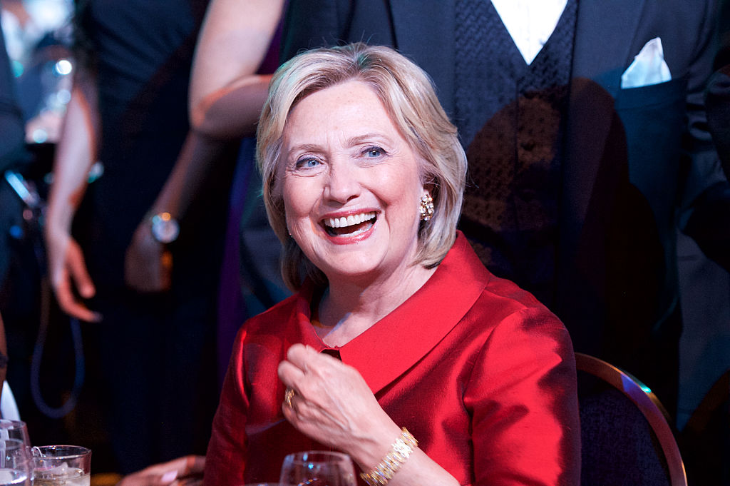 WASHINGTON, DC - SEPTEMBER 19: Hillary Clinton attends the Phoenix Awards Dinner at the 45th Annual Legislative Black Caucus Foundation Conference at Walter E. Washington Convention Center on September 19, 2015 in Washington, DC. (Photo by Earl Gibson III/Getty Images)