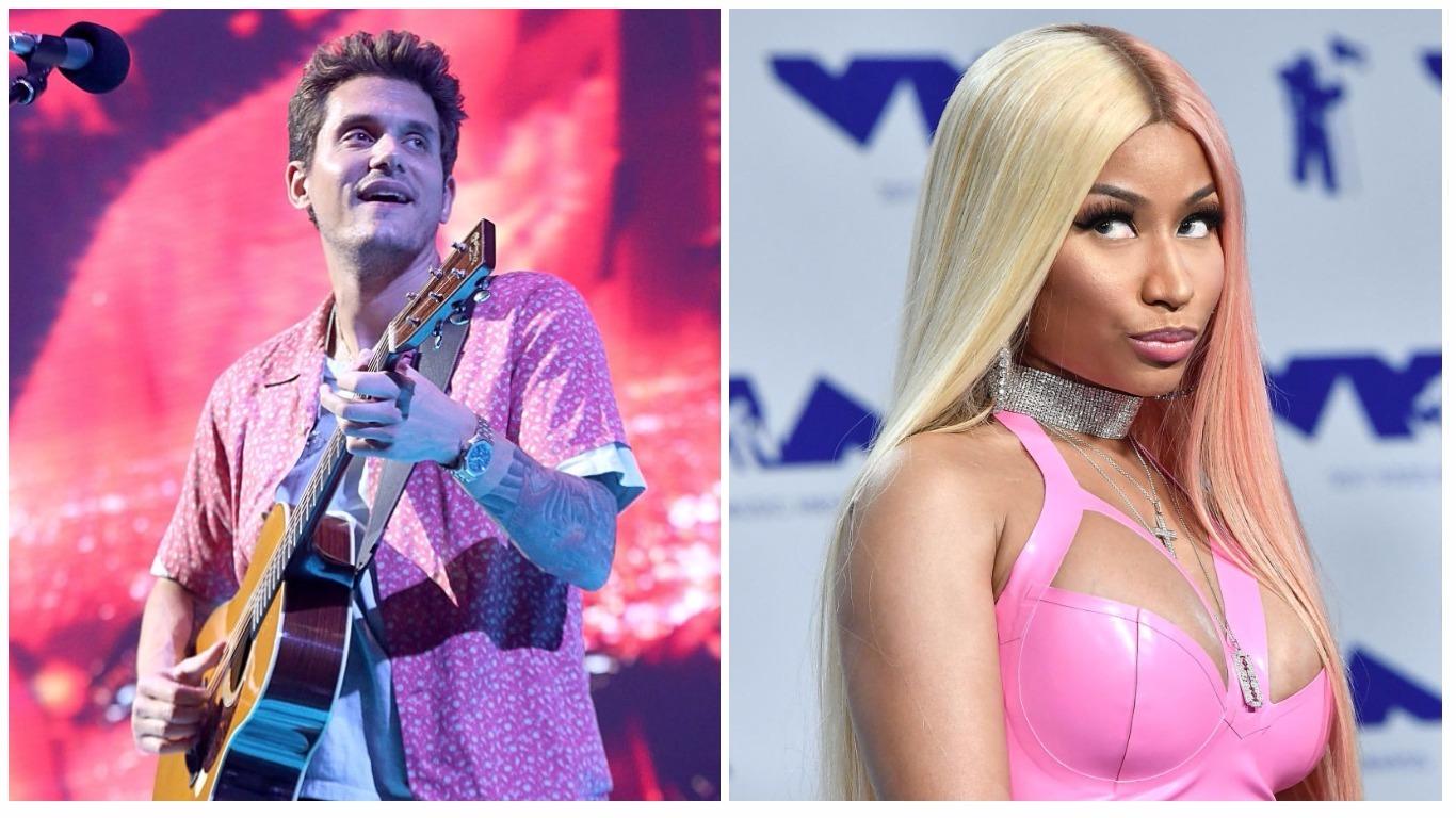Picture of John Mayer and Nicki Minaj