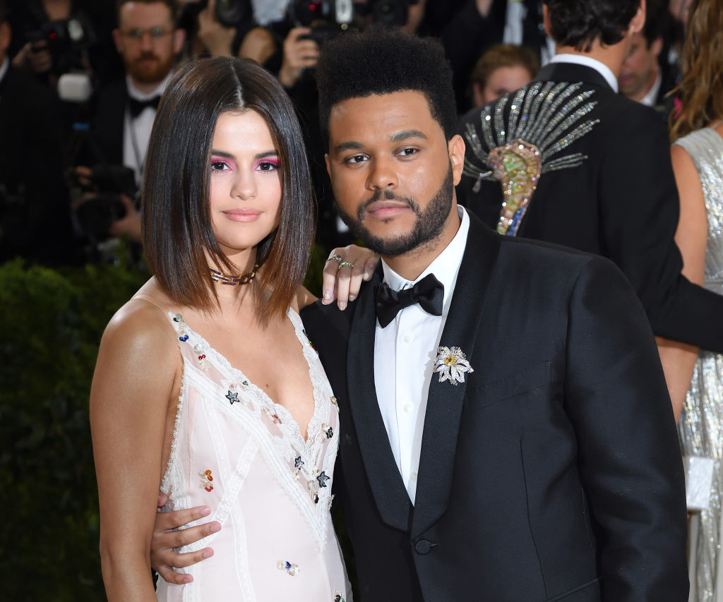 """Selena Gomez and The Weeknd attend the """"Rei Kawakubo/Comme des Garcons: Art Of The In-Between"""" Costume Institute Gala at the Metropolitan Museum of Art on May 1, 2017 in New York City."""