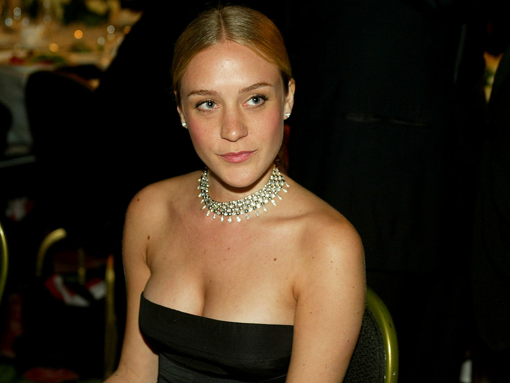 LOS ANGELES - NOVEMBER 14: (TABLOIDS OUT) Actress Chloe Sevigny mingles during the cocktail party for 2003 Presentation of the 18th Annual American Cinematheque Award honoring Nicole Kidman at the Beverly Hilton November 14, 2003 in Beverly Hills, California. (Photo by Kevin Winter/Getty Images)