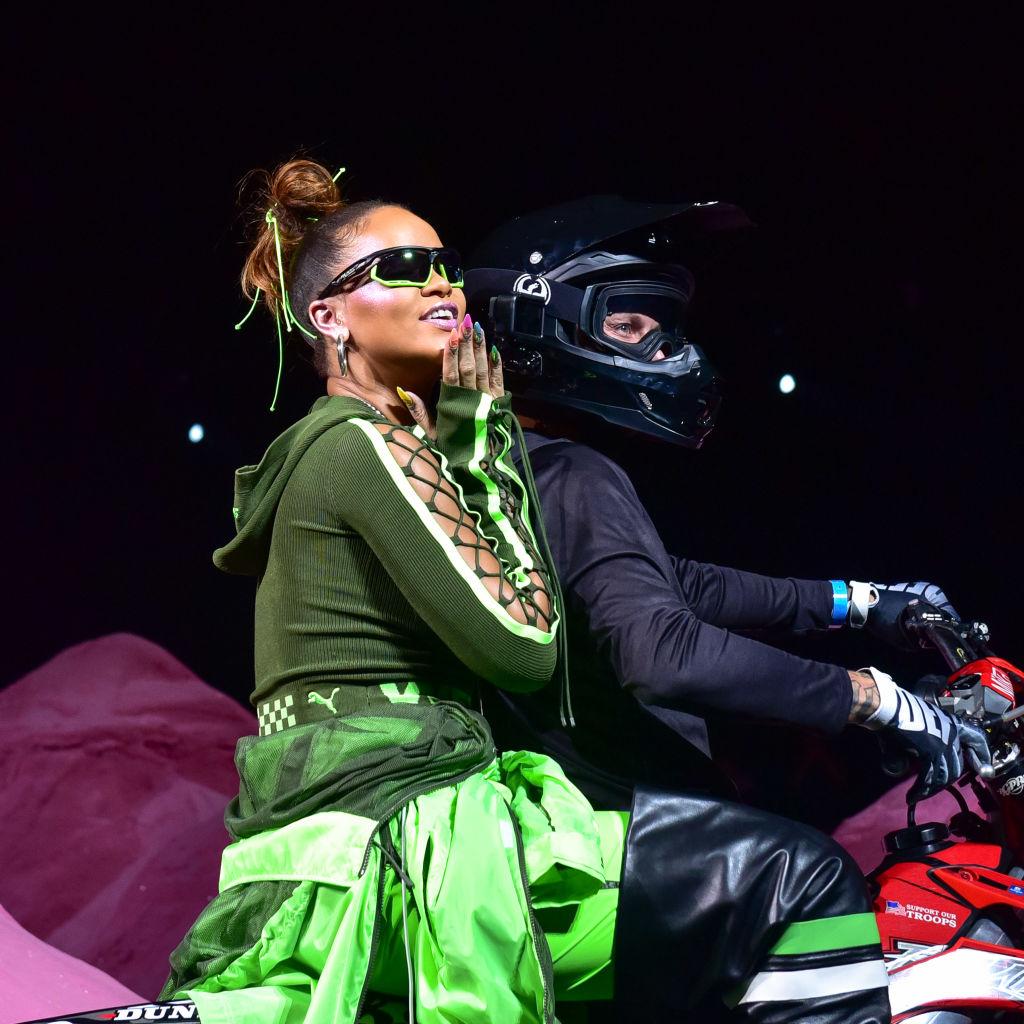 Rihanna on the runway at the Fenty Puma By Rihanna fashion show during New York fashion week at Park
