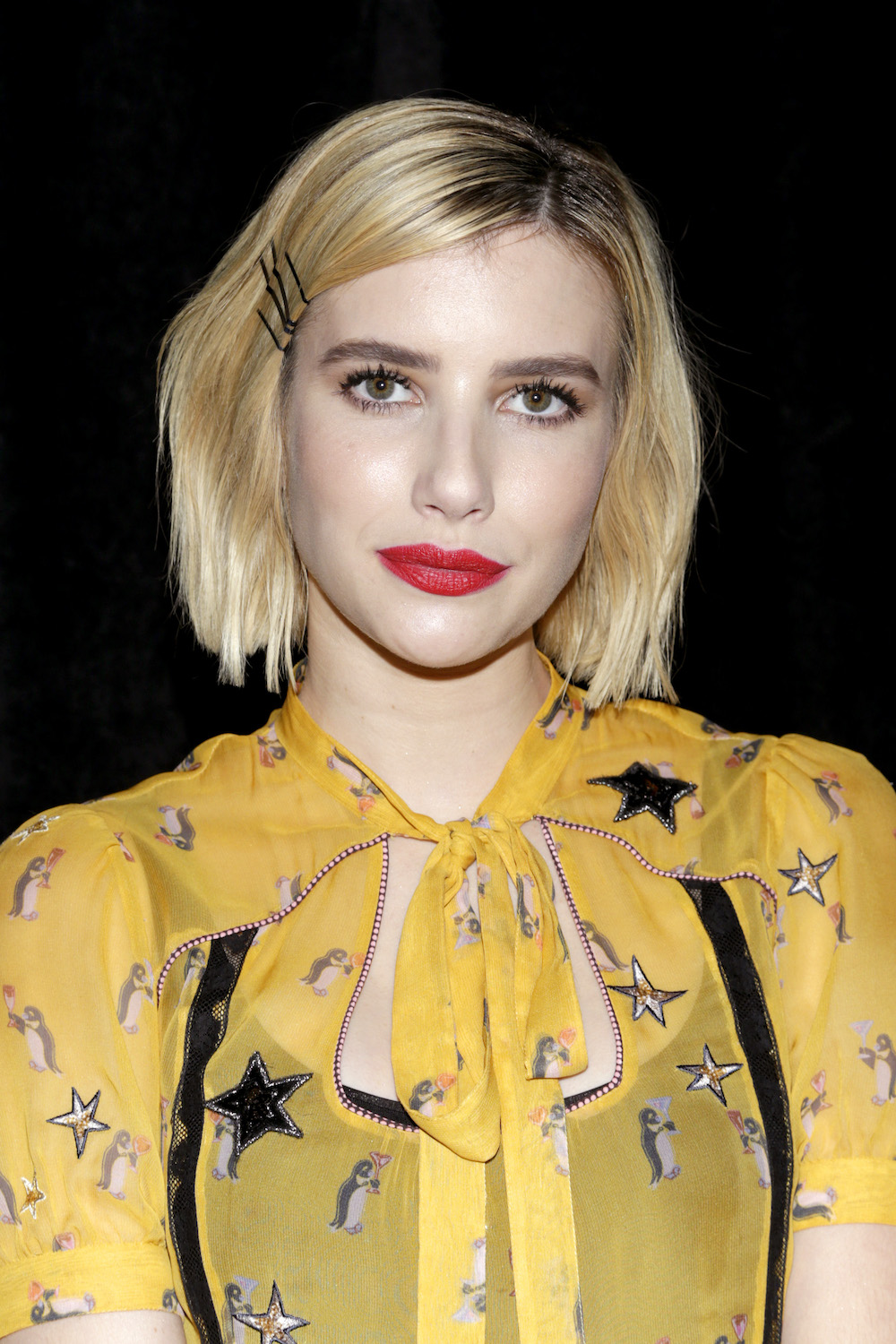 Emma Roberts Yellow Dress With Penguin Details Proves That It S Going To Be The New It Animal In Fashion Hellogiggles