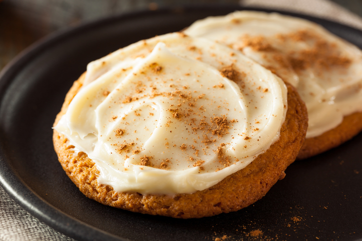 Homemade Pumpkin Spice Cookies with Cream Cheese Frosting