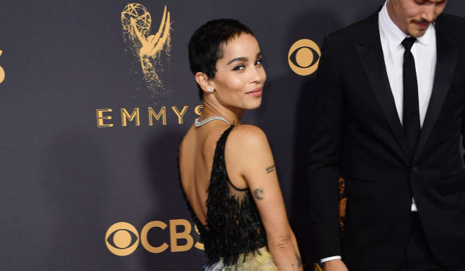 LOS ANGELES, CA - SEPTEMBER 17: Actor Zoe Kravitz attends the 69th Annual Primetime Emmy Awards at Microsoft Theater on September 17, 2017 in Los Angeles, California. (Photo by Frazer Harrison/Getty Images)