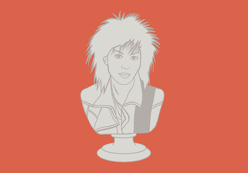 Bust of Joan Jett.