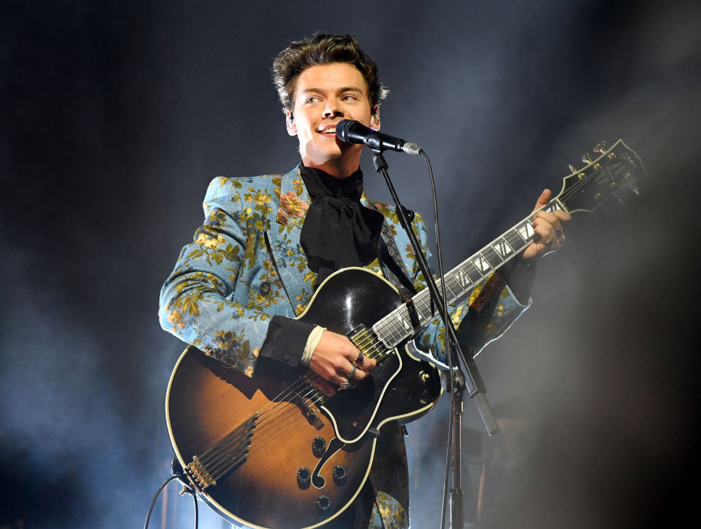 Harry Styles performs onstage at The Greek Theatre on September 20, 2017 in Los Angeles, California.