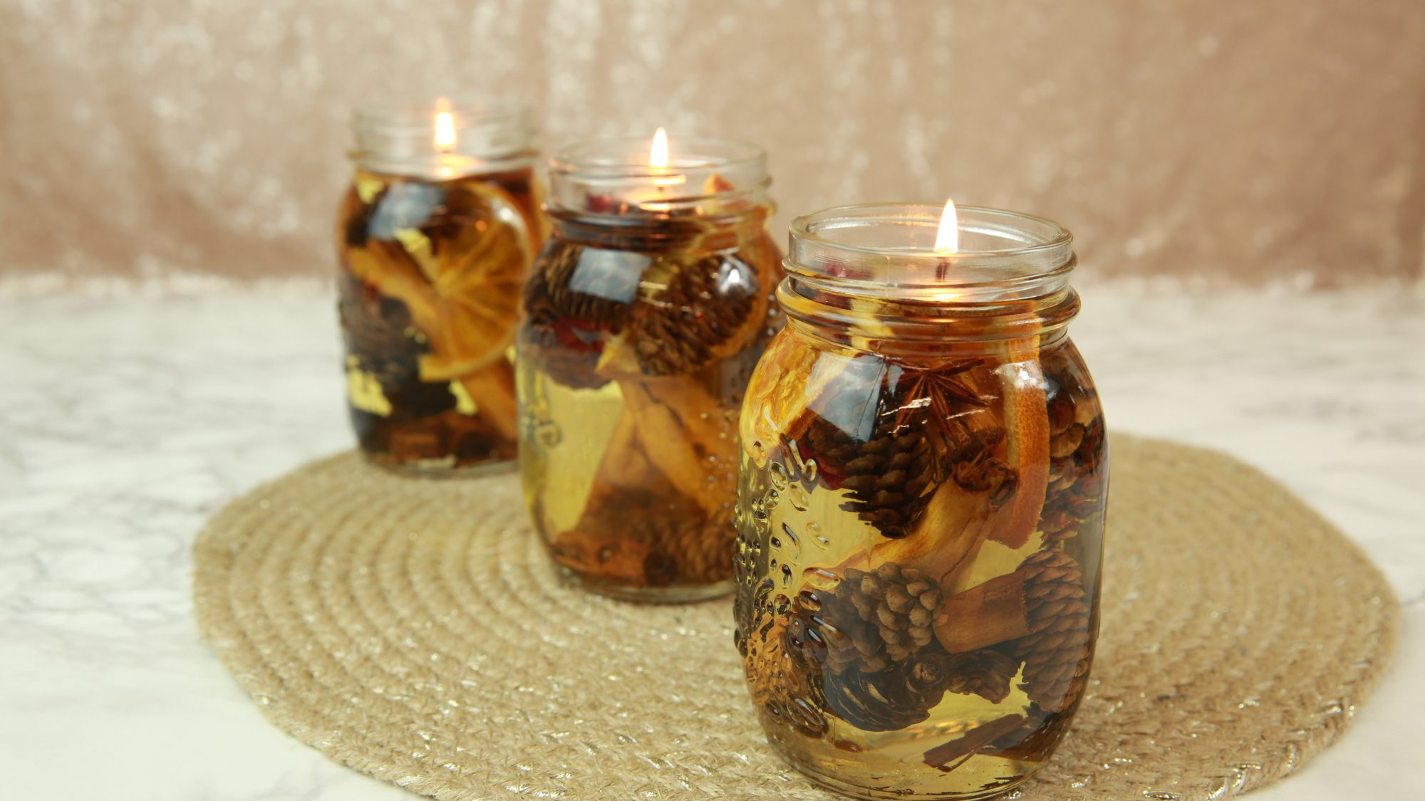 Fall-Scented Oil Lamps