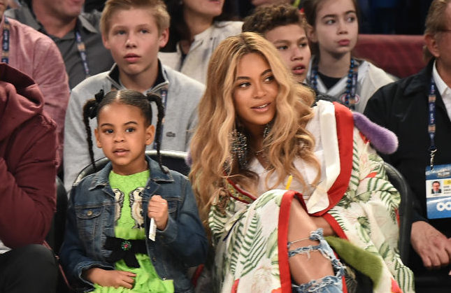 Blue Ivy attends the 66th NBA All-Star Game at Smoothie King Center on February 19, 2017 in New Orleans, Louisiana.