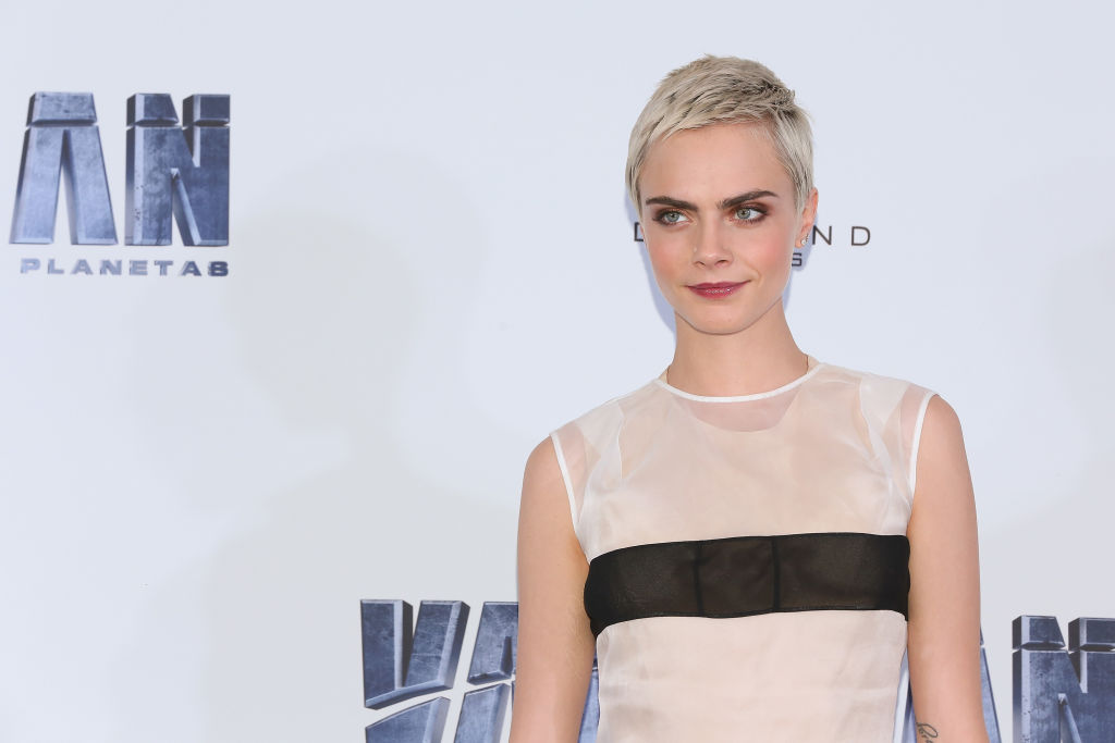 Picture of Cara Delevingne White Dress