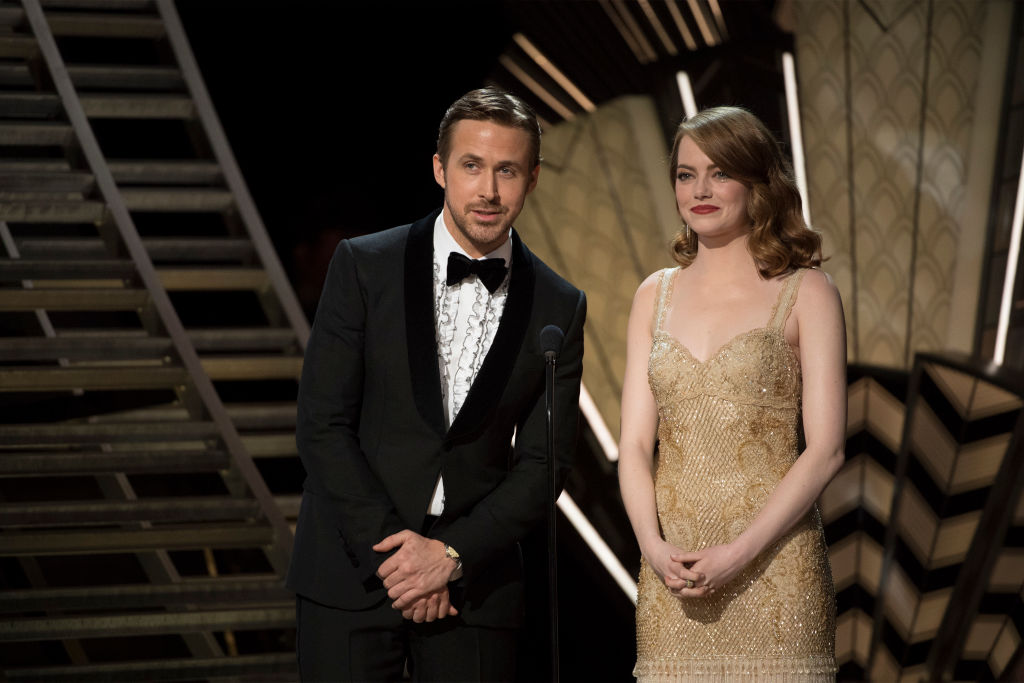Emma Stone and Ryan Gosling at the Oscars