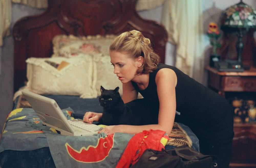 sabrina salem black cat