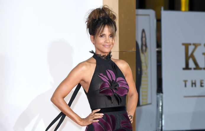 Picture of Halle Berry Sheer Skirt
