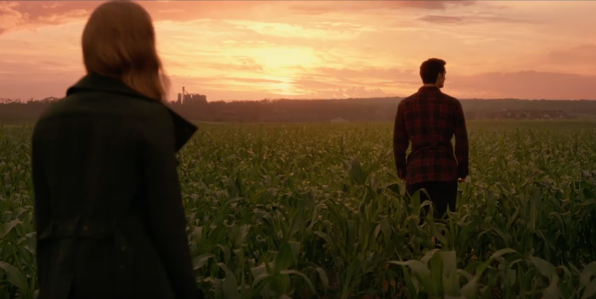 Lois Lane and Clark Kent in trailer for Justice League