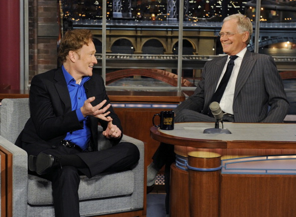 Picture of Conan on Letterman