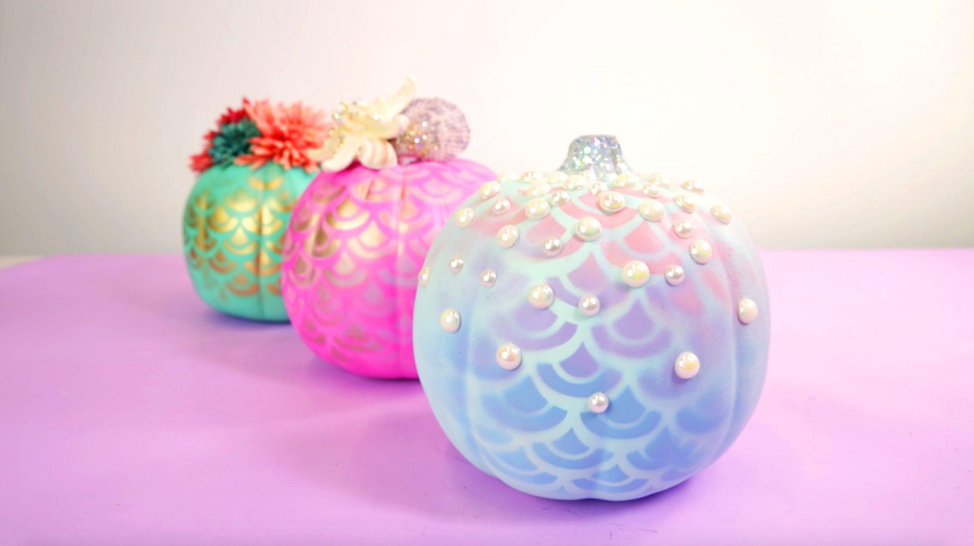 Mermaid Pumpkins