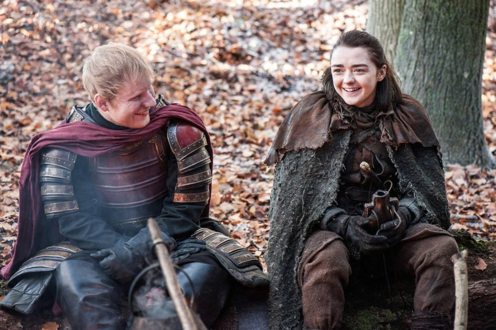 maisie williams ed sheeran game of thrones