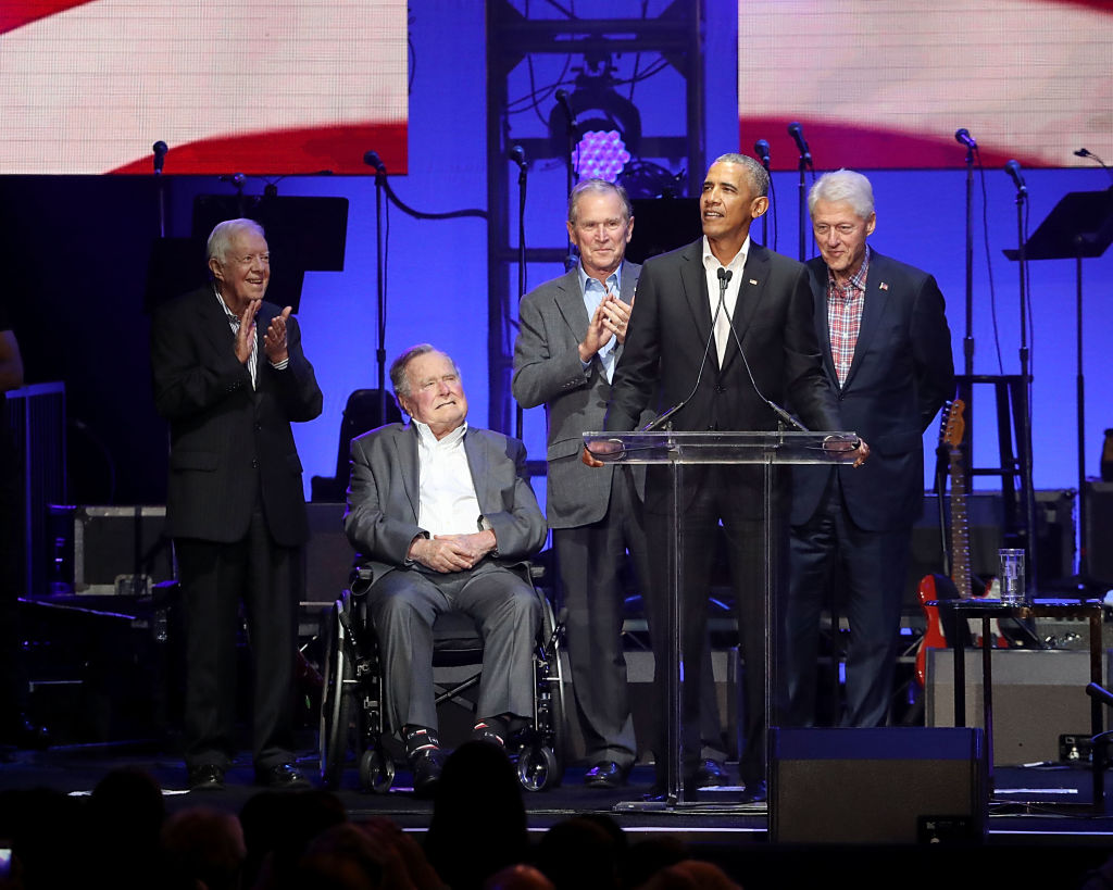 All five living former presidents teamed up for hurricane relief.