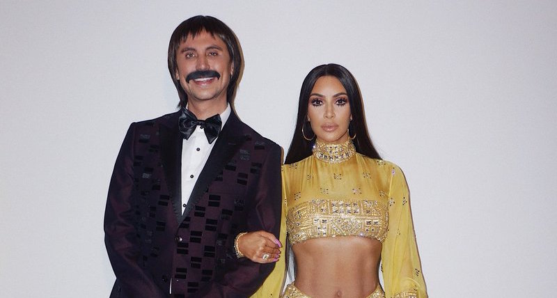 Kim Kardashian and Jonathan Cheban in costume