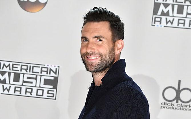 Picture of Adam Levine Black Sweater
