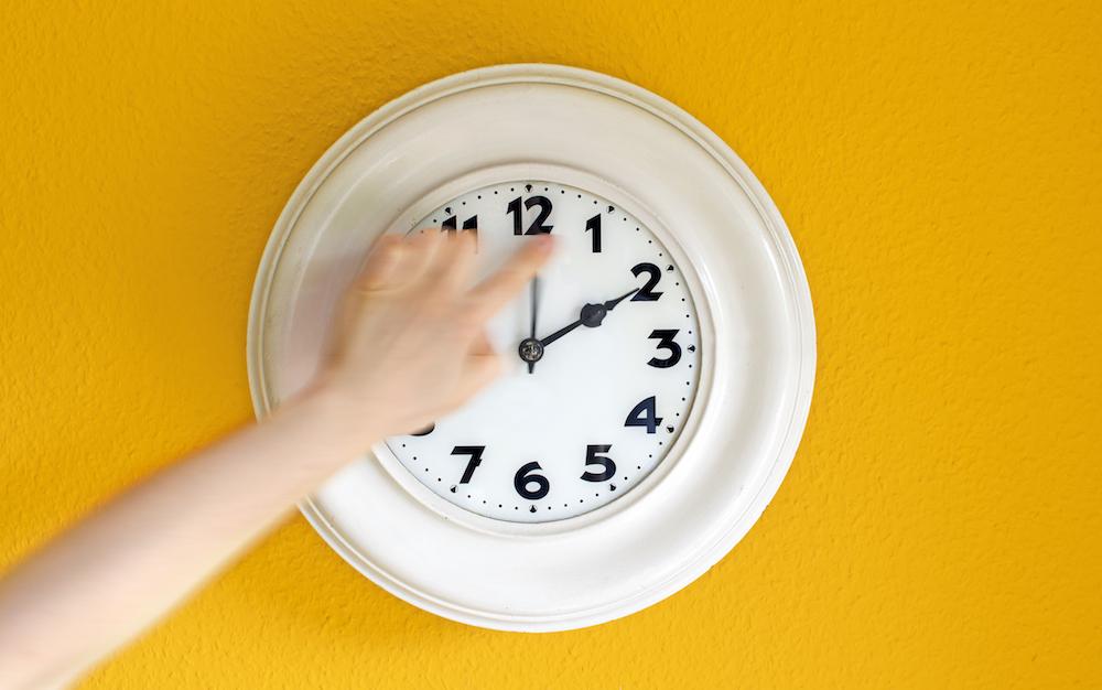 Daylight Saving Time clock change
