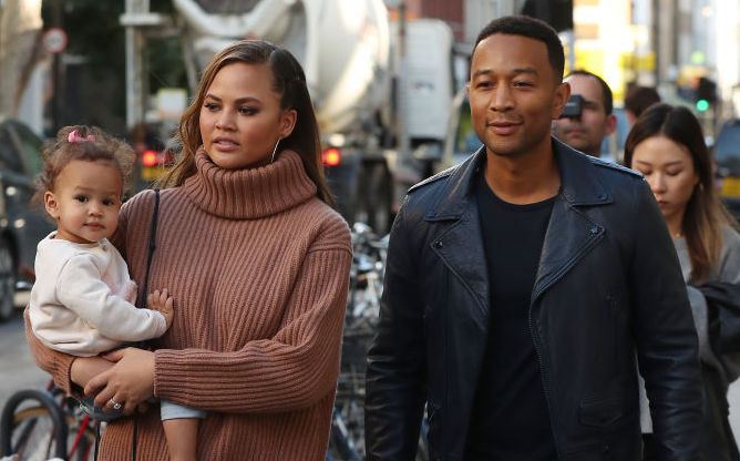 Picture of Chrissy Teigen John Legend Luna Walking