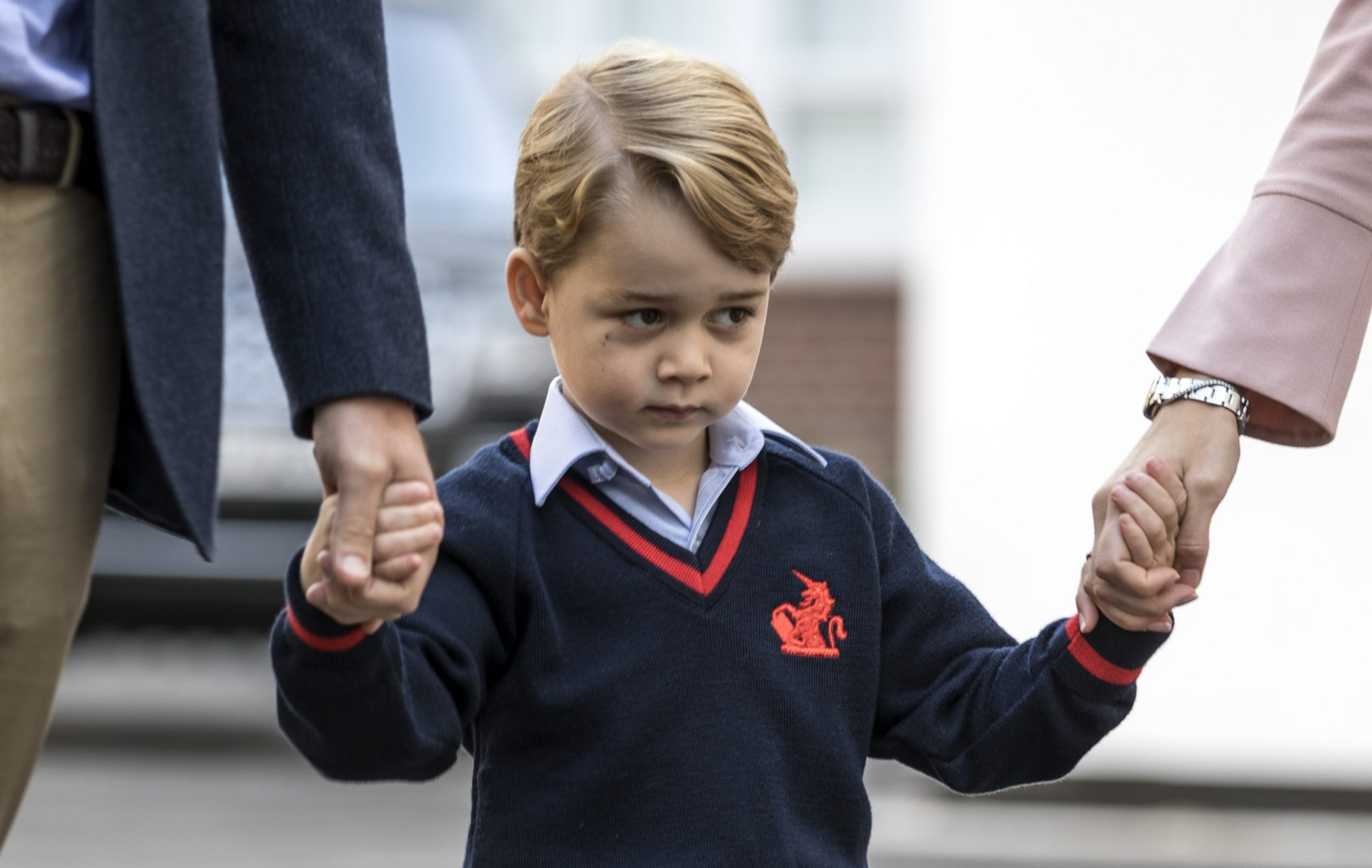 Image of Prince George on his first day of school