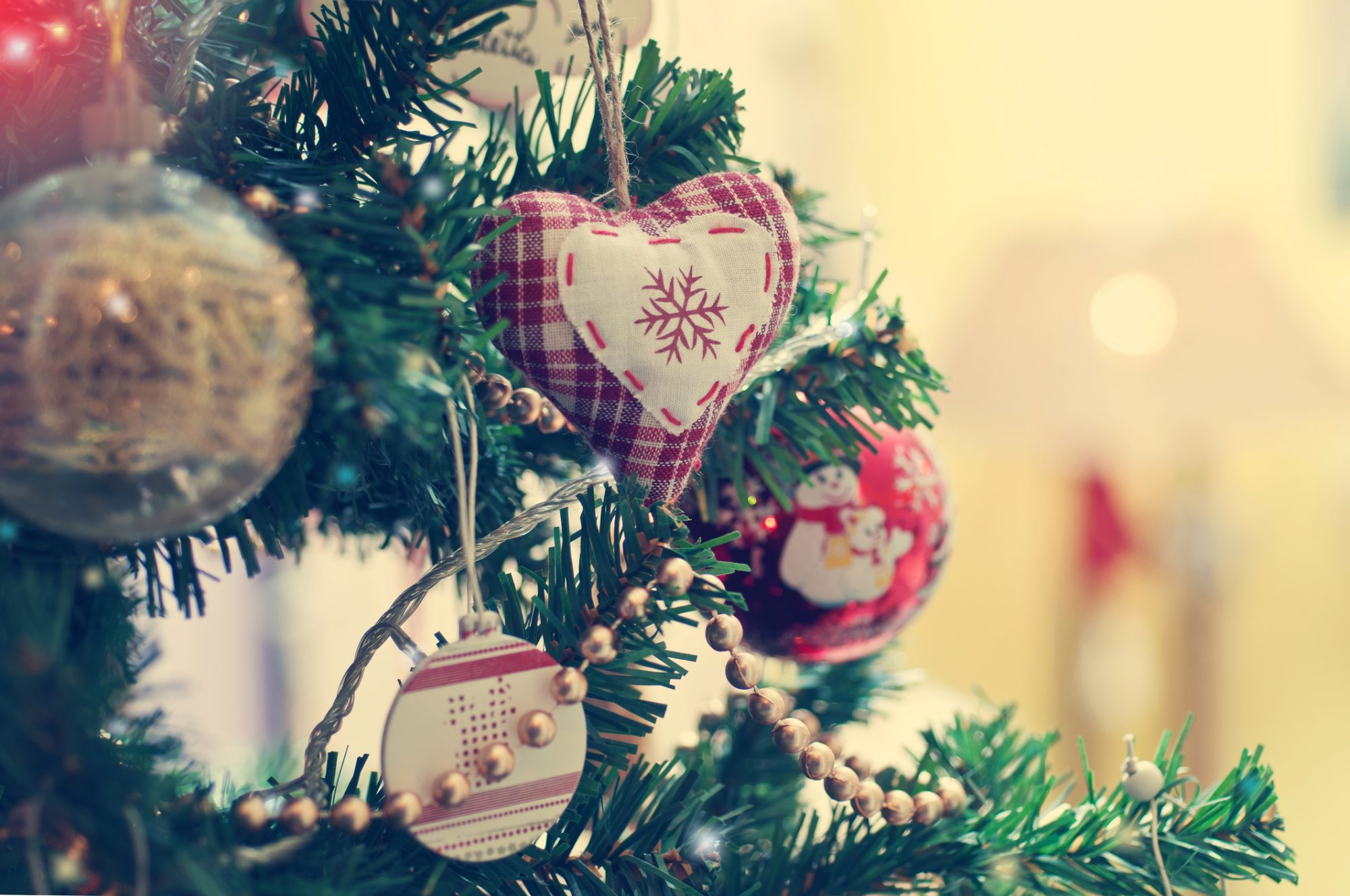 Picture of Christmas Tree Heart Ornament