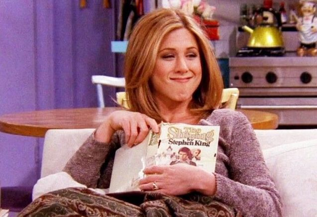 Picture of Rachel Friends Reading The Shining