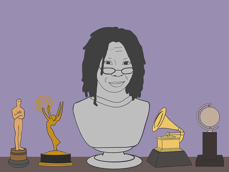 Bust of Whoopi Goldberg