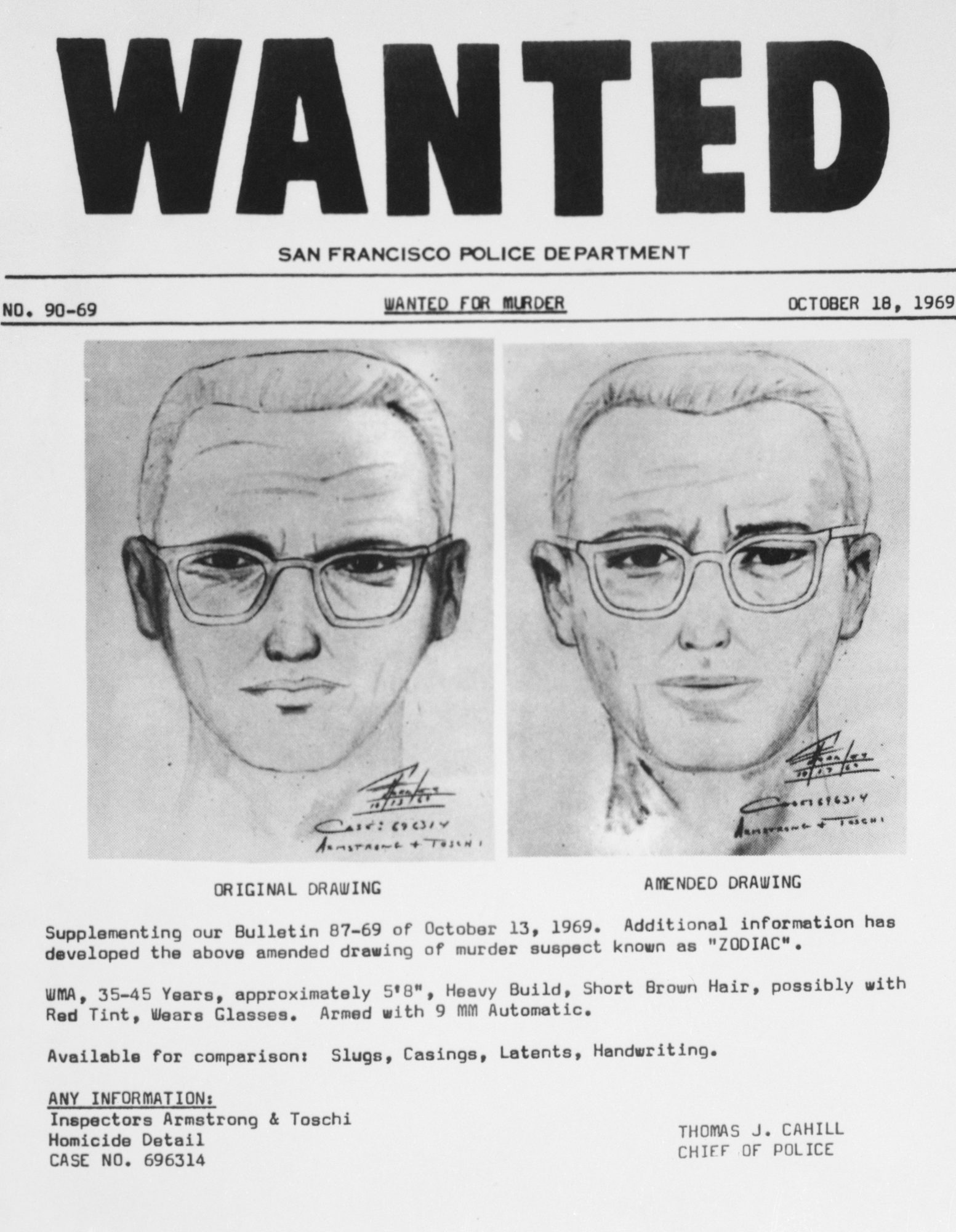 Image of the Zodiac Killer