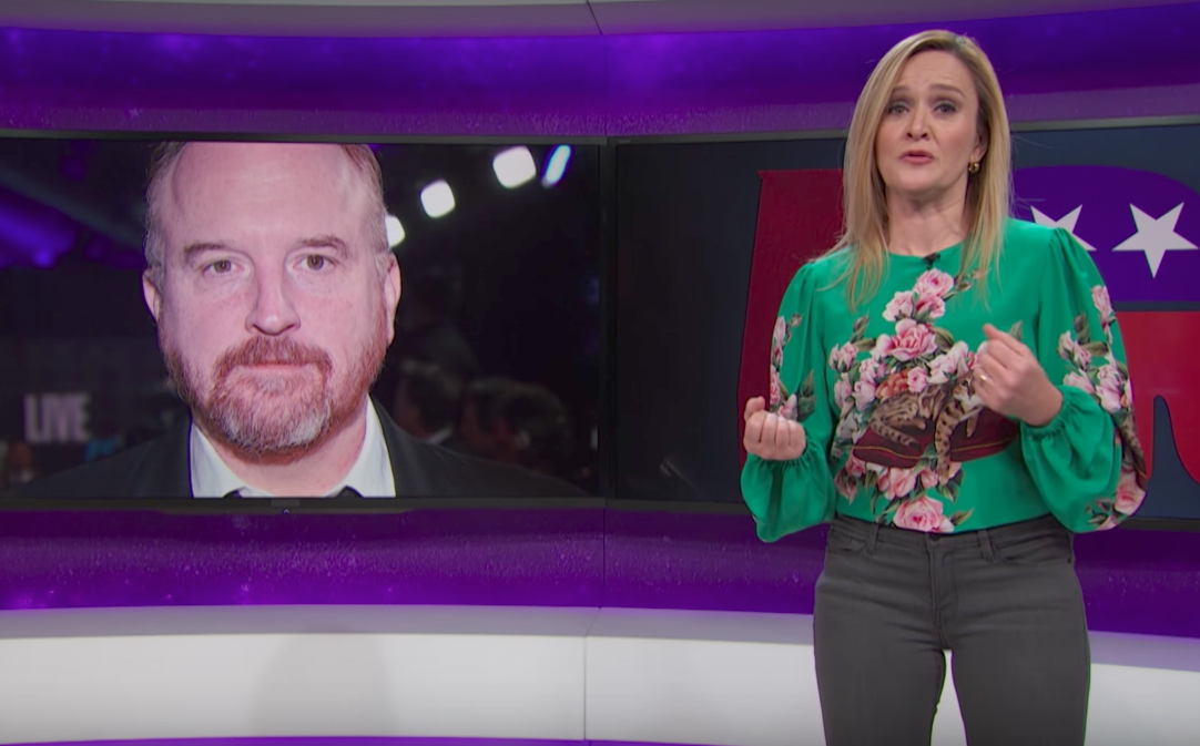 """Image of Samantha Bee talking about Louis C.K. on """"Full Frontal"""""""