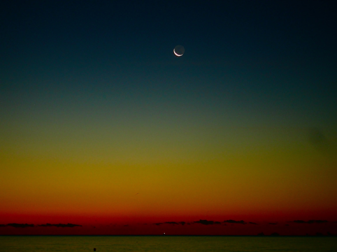 New moon before sunrise