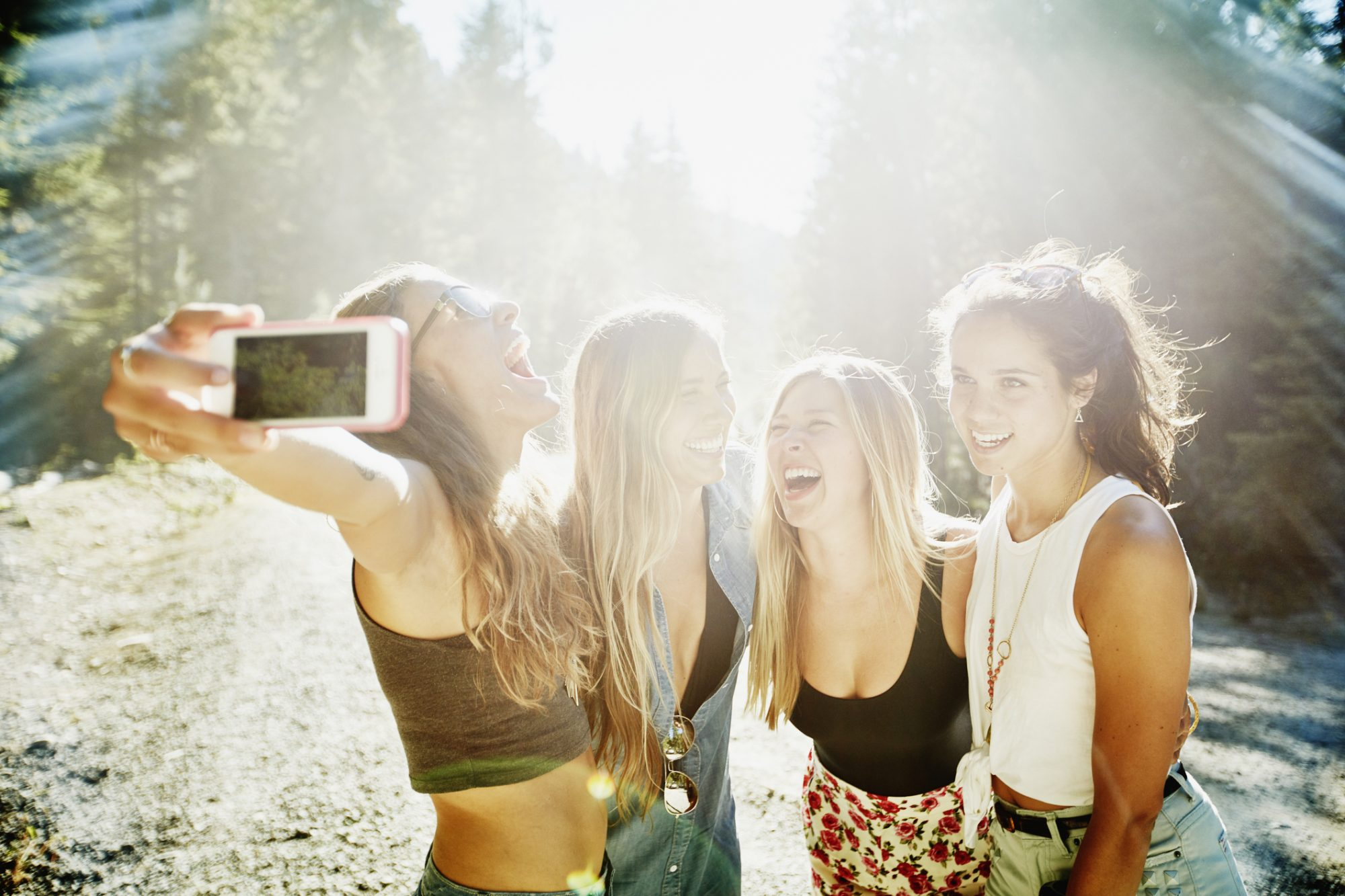 Picture of Friends Taking a Selfie