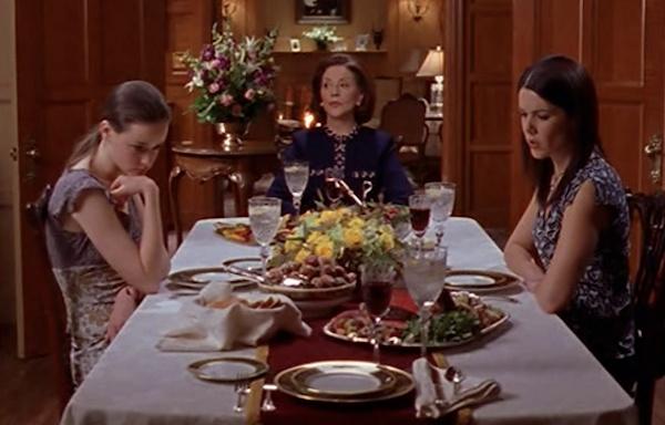 Gilmore Girls dinner scene