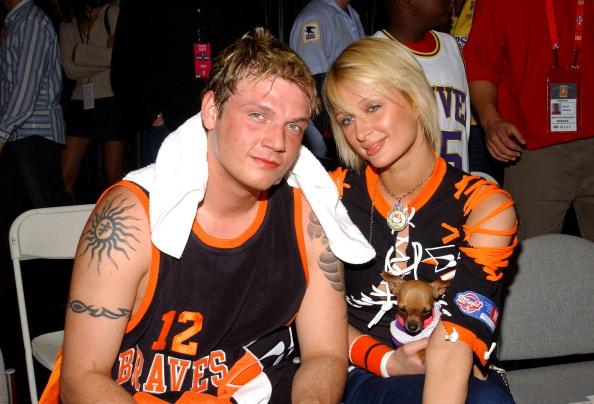 Nick Carter and Paris Hilton in 2004