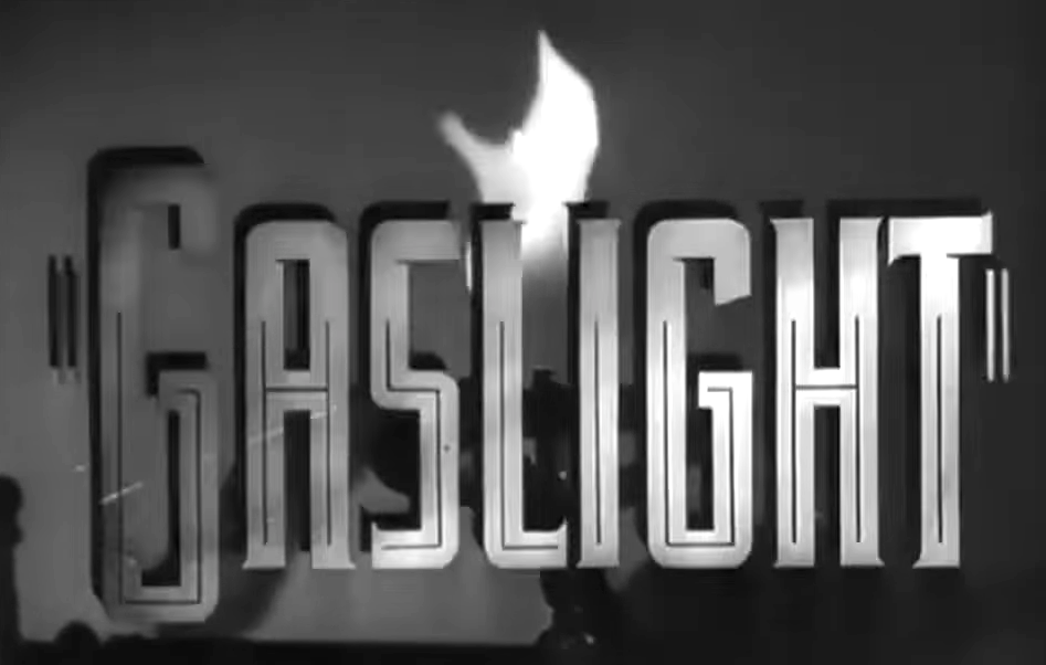 "Title card of the 1944 film ""Gaslight"""