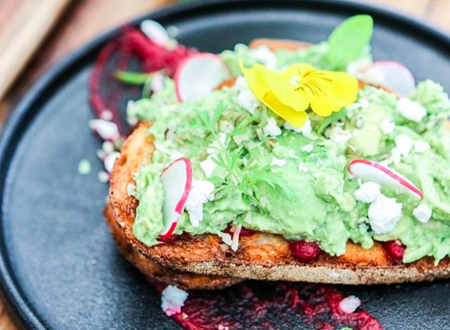 toast edible flower