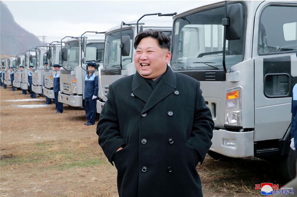 This undated photo released by North Korea's official Korean Central News Agency (KCNA) on November 21, 2017 shows North Korean leader Kim Jong-Un at the Sungri Motor Complex in South Pyongan Province.