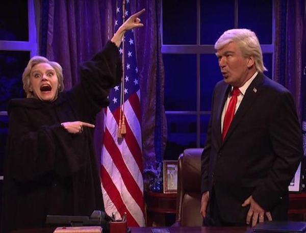 Kate McKinnon as Hillary Clinton on SNL