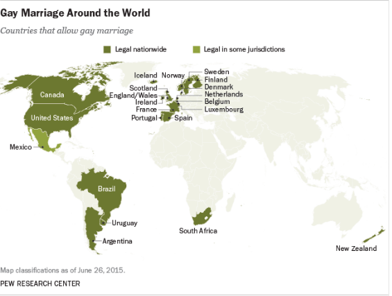 Gay marriage around the world