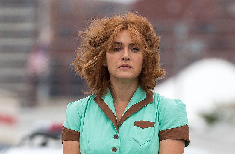 Kate Winslet on Woody Allen set
