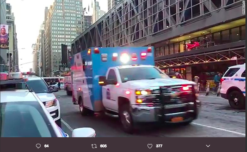 A pipe bomb detonated in New York City's Port Authority bus terminal on December 11th