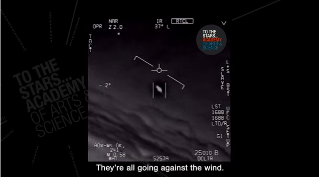 Footage released from the Pentagon's UFO program