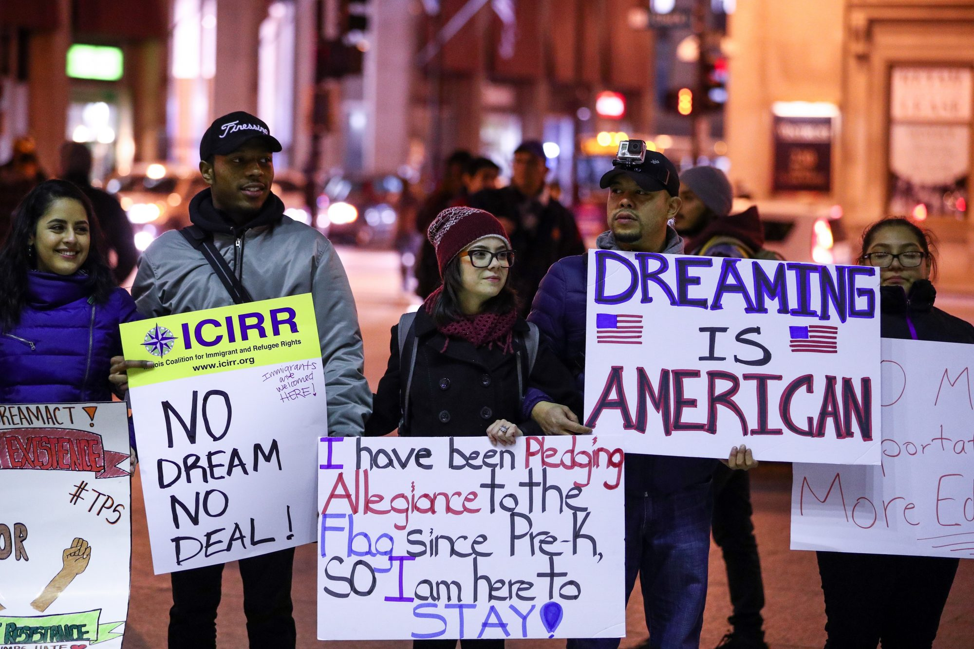 Image of protesting Dreamers
